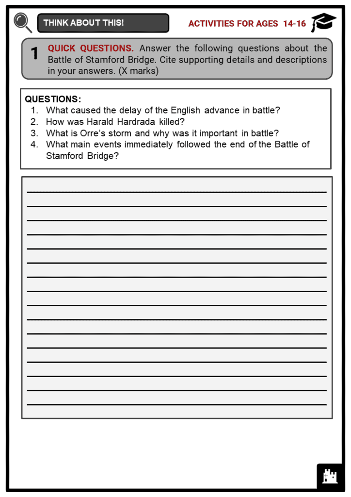 Battle of Stamford Bridge Student Activities & Answer Guide 3