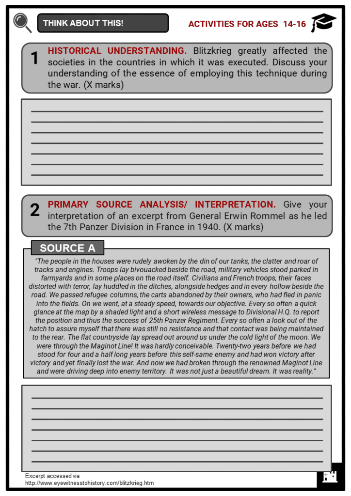 Blitzkrieg Student Activities & Answer Guide 3