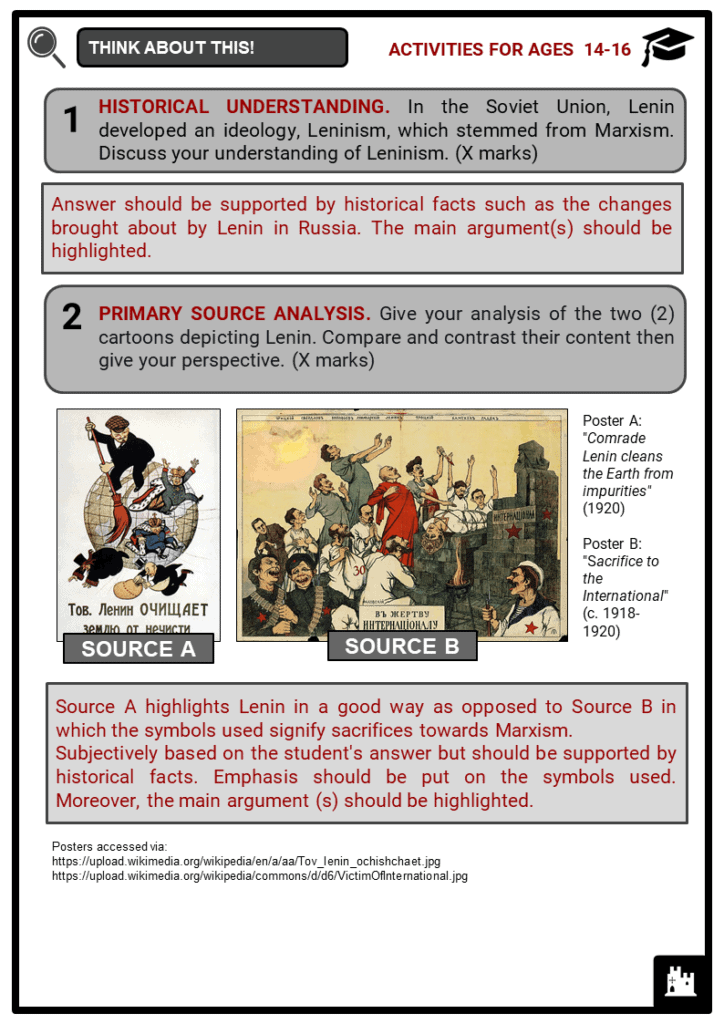 Lenin Student Activities & Answer Guide 4