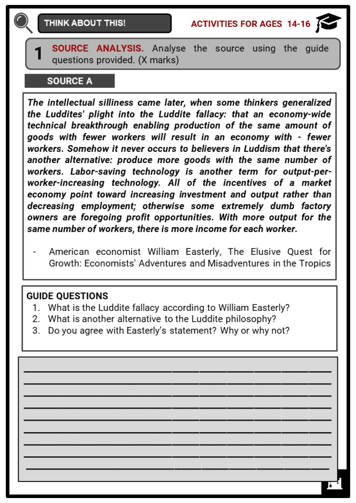 Luddites Student Activities & Answer Guide 3