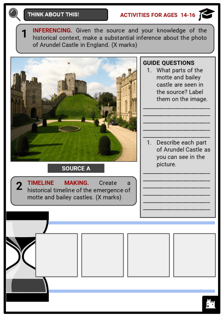 Motte and Bailey Castle Student Activities & Answer Guide 3