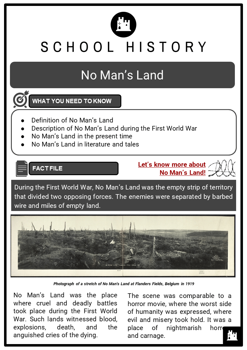 No Man S Land Facts Worksheets Overview What Was In No Man S Land