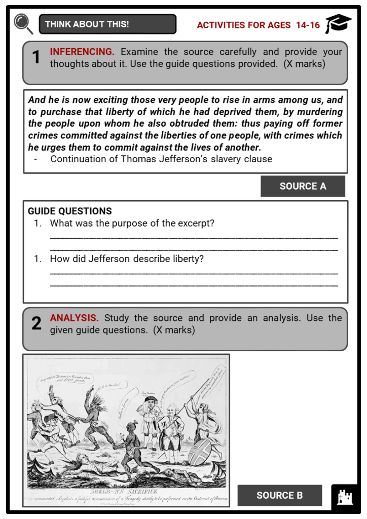 The American War of Independence Student Activities & Answer Guide 3