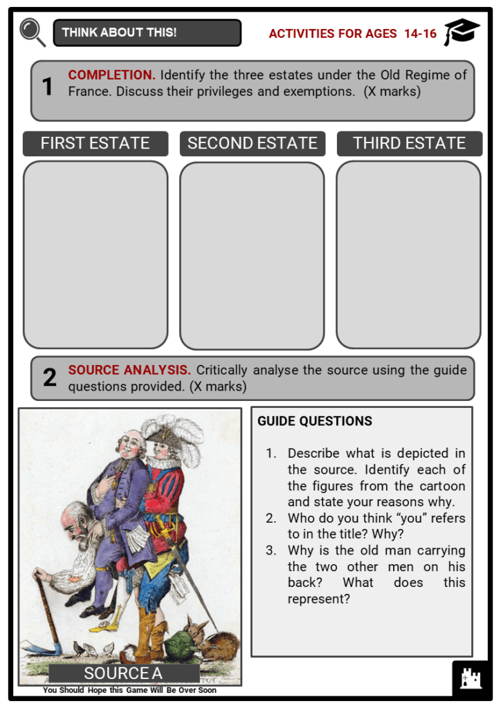The First Estate Student Activities & Answer Guide 3