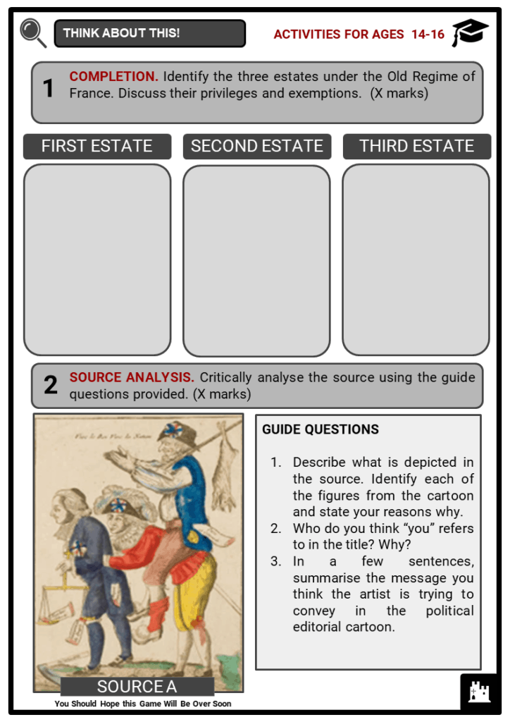 The Second Estate Student Activities & Answer Guide 3