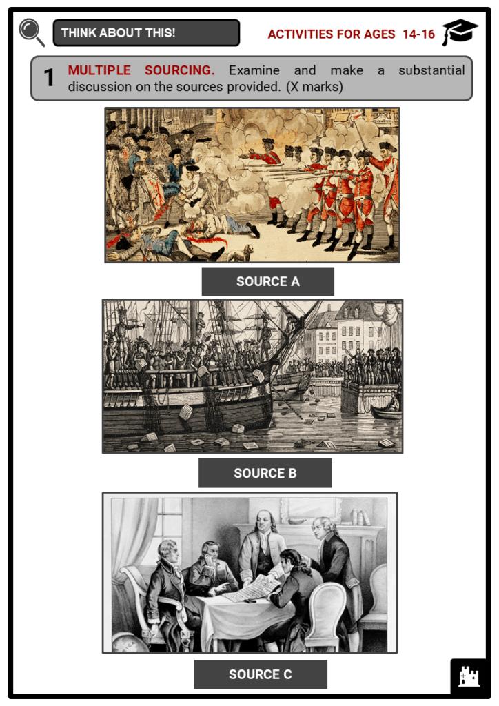 Timeline of the American History Student Activities & Answer Guide 3