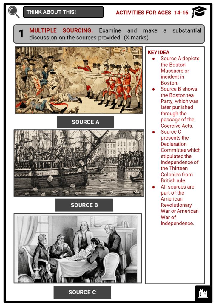Timeline of the American History Student Activities & Answer Guide 4