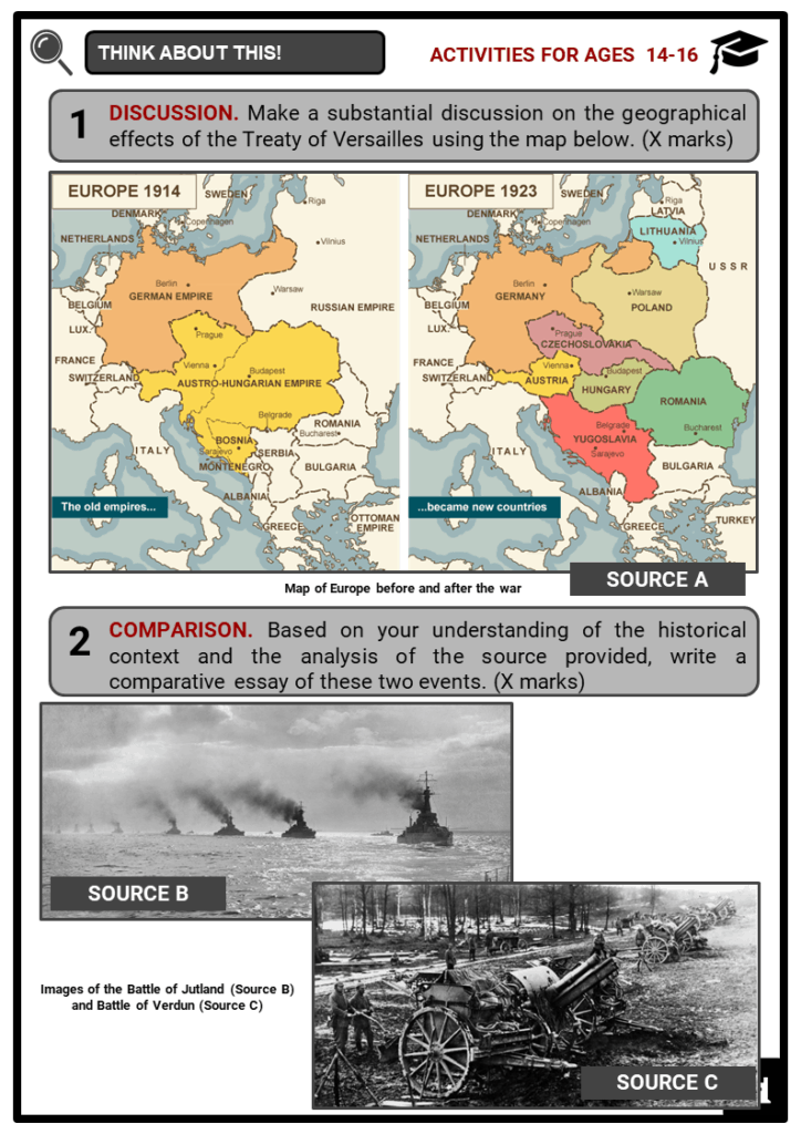 World War I Timeline Student Activities & Answer Guide 3