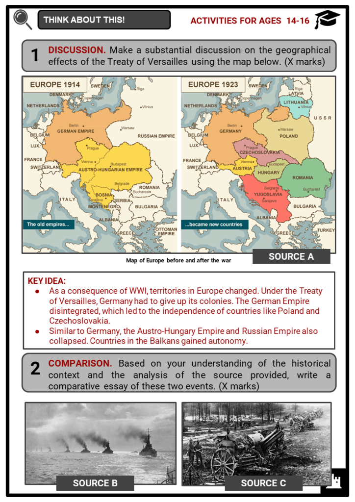 World War I Timeline Student Activities & Answer Guide 4