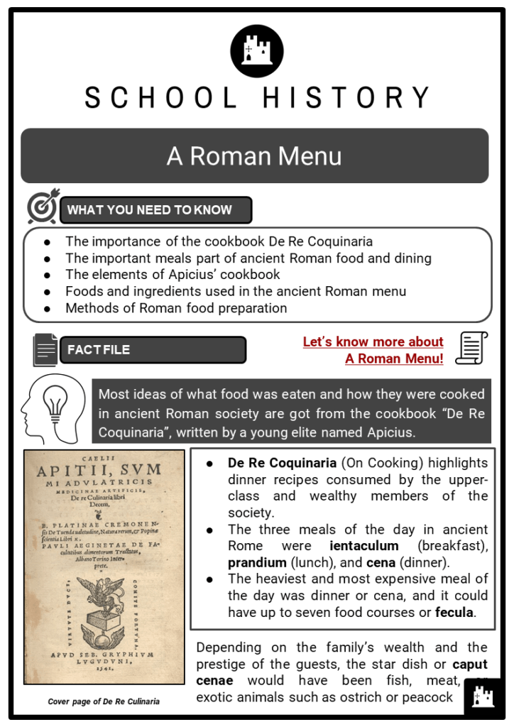 A Roman Menu Resource Collection 1
