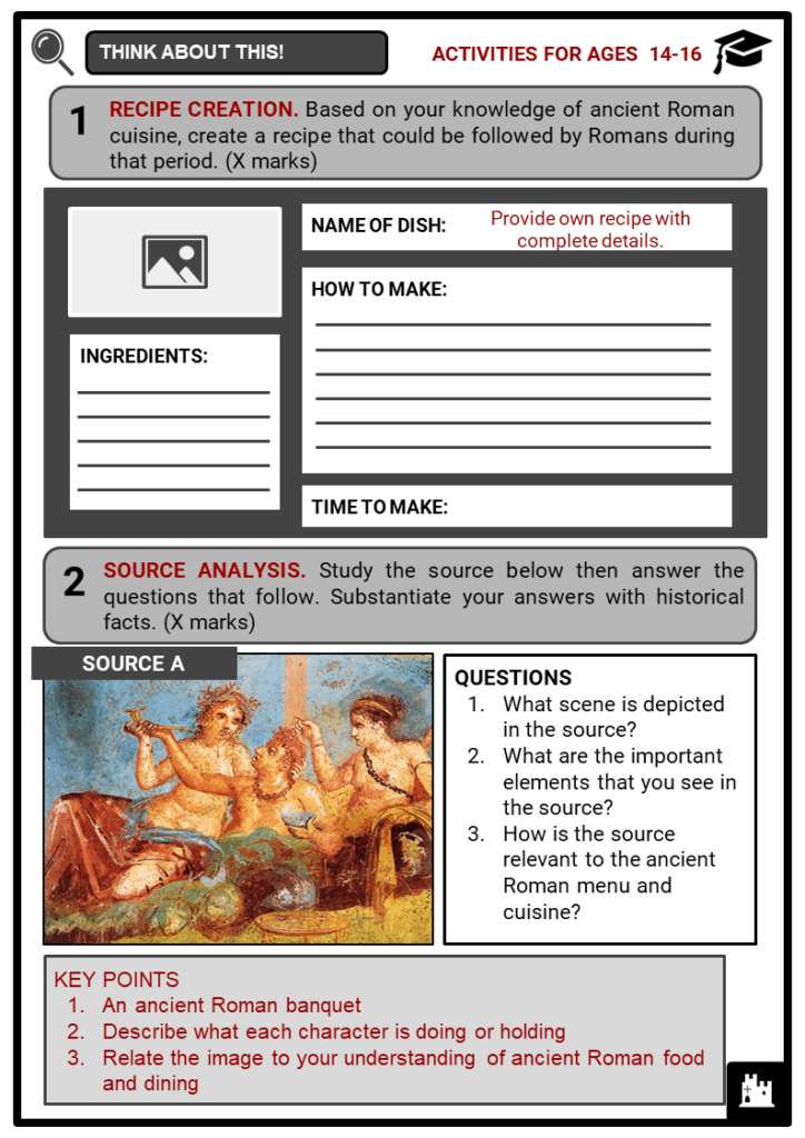 A Roman Menu Student Activities & Answer Guide 4