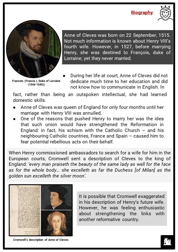 Anne of Cleves Resource Collection 2