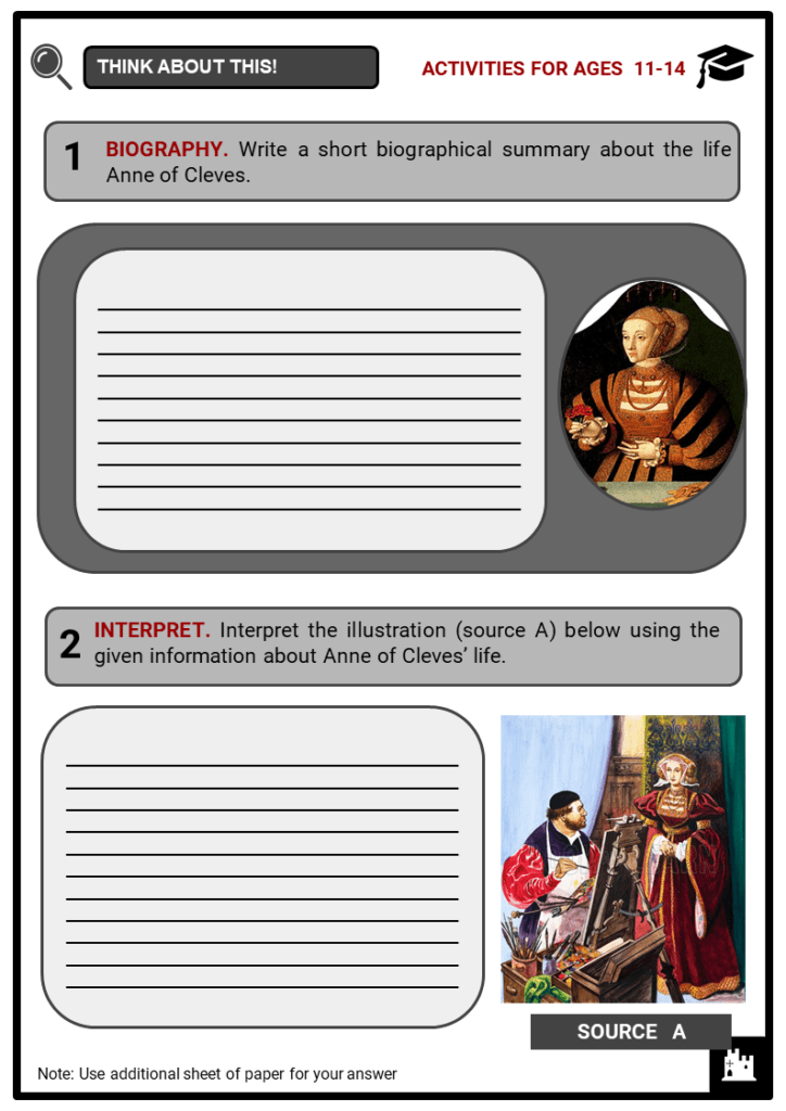 Anne of Cleves Student Activities & Answer Guide 1