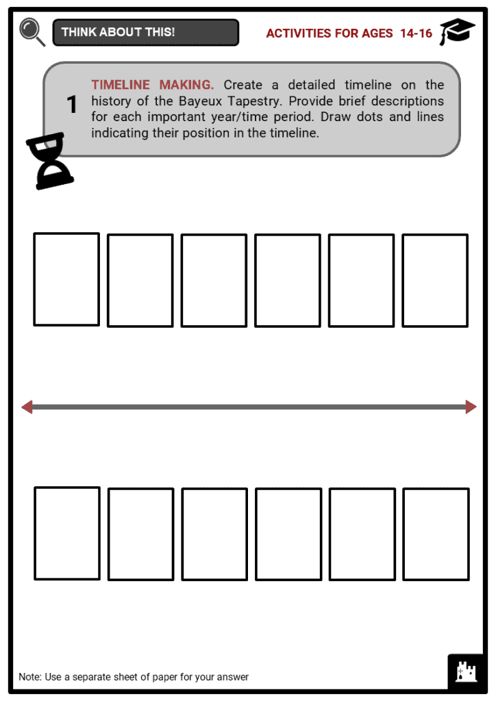 Bayeux Tapestry Student Activities & Answer Guide 3