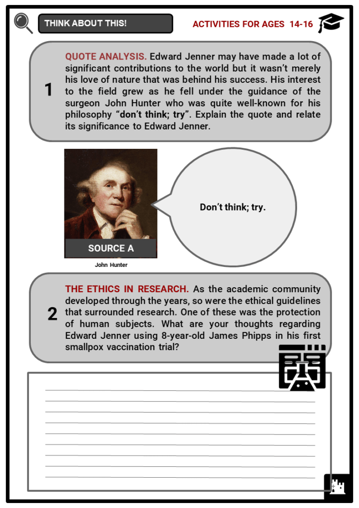 Edward Jenner Student Activities & Answer Guide 3