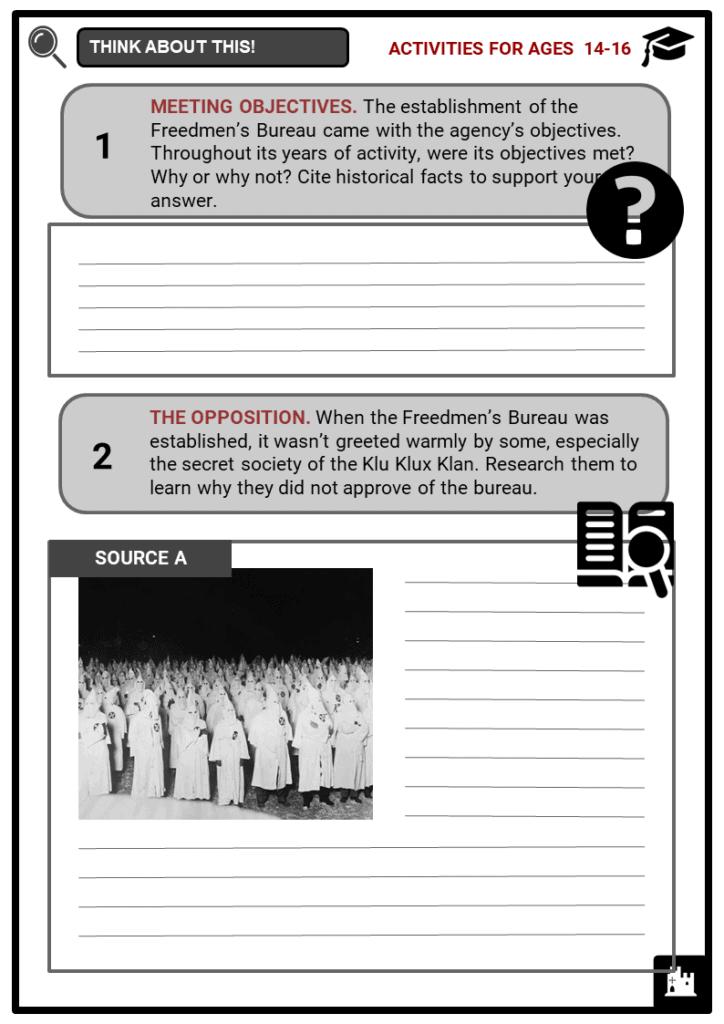 Freedmen's Bureau Student Activities & Answer Guide 3