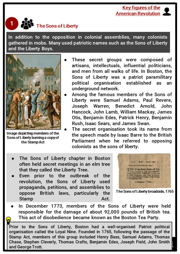 Key figures in the American Revolution Resource Collection 2