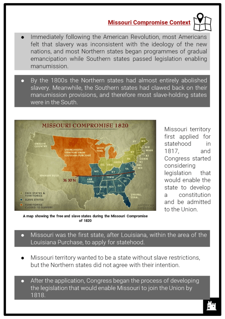 Missouri Compromise Resource Collection 2