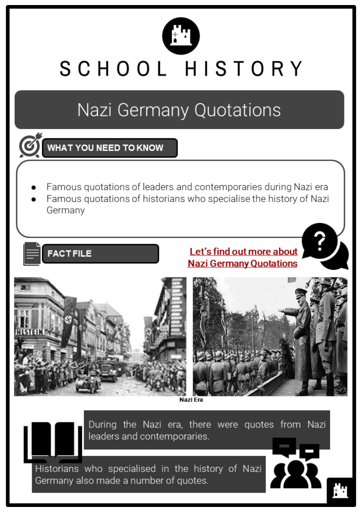 Nazi Germany Quotations Resource Collection 1