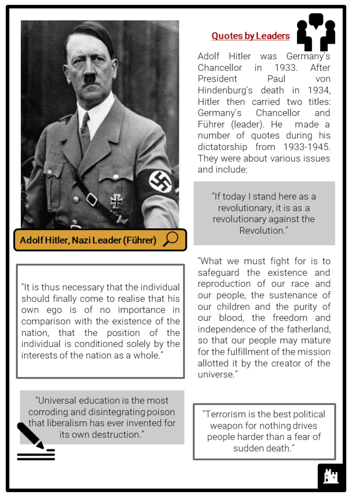 Nazi Germany Quotations Resource Collection 2