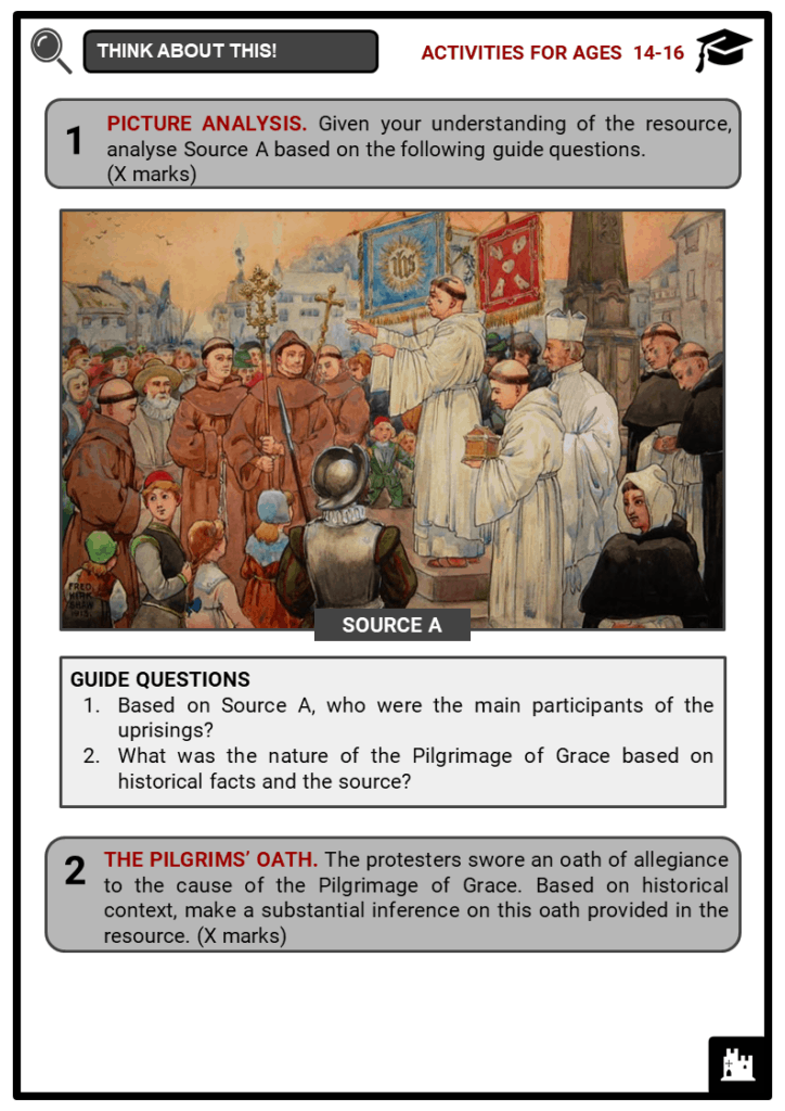 Pilgrimage of Grace Student Activities & Answer Guide 3