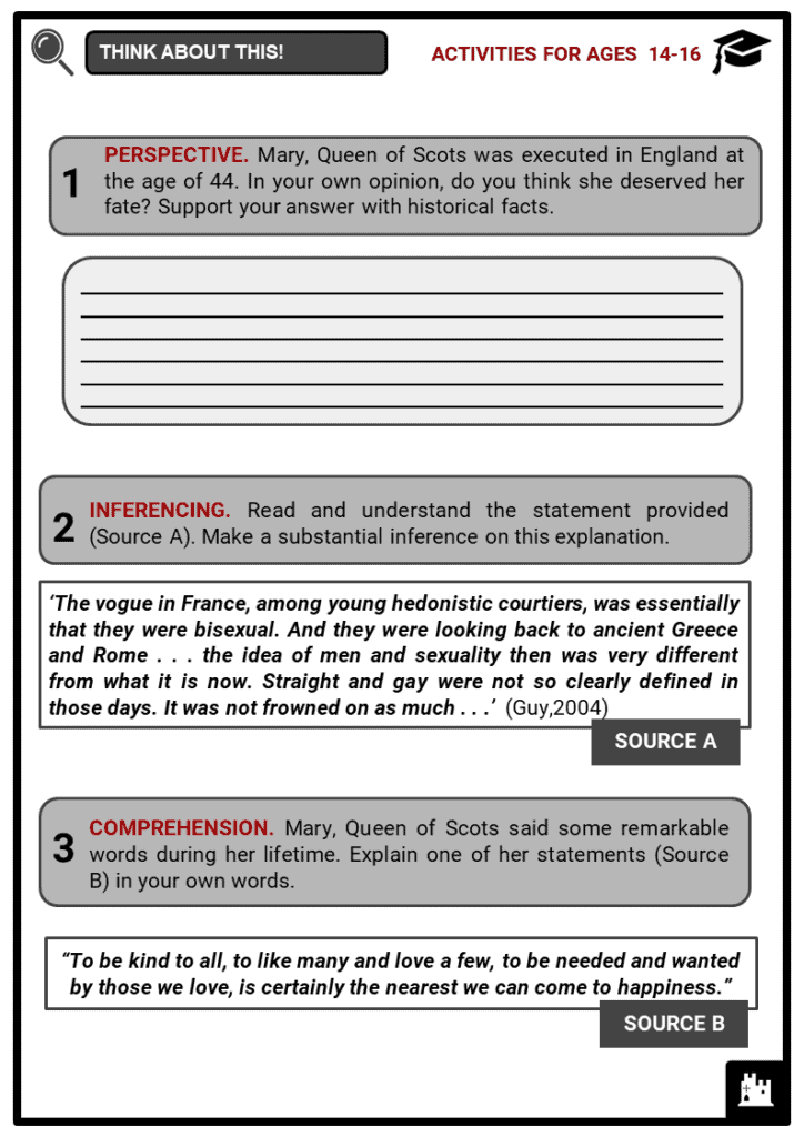 Queen Mary of Scots Student Activities & Answer Guide 3