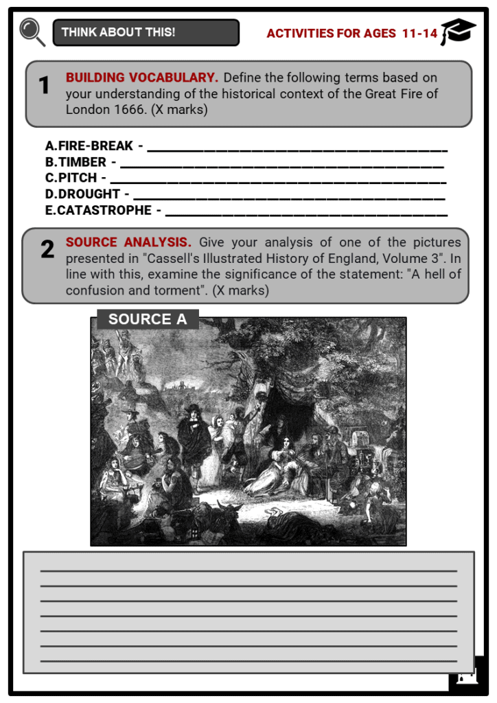 The Great Fire of London 1666 Student Activities & Answer Guide 1