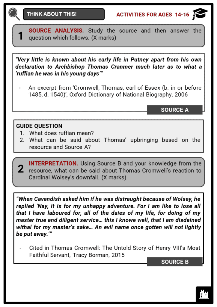 Thomas Cromwell Student Activities & Answer Guide 3