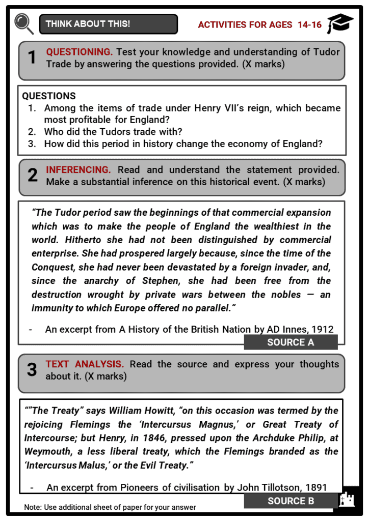 Tudor Trade Student Activities & Answer Guide 3