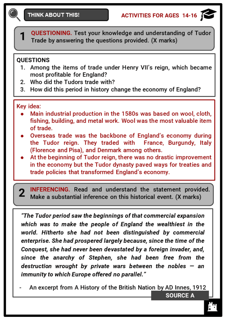 Tudor Trade Student Activities & Answer Guide 4
