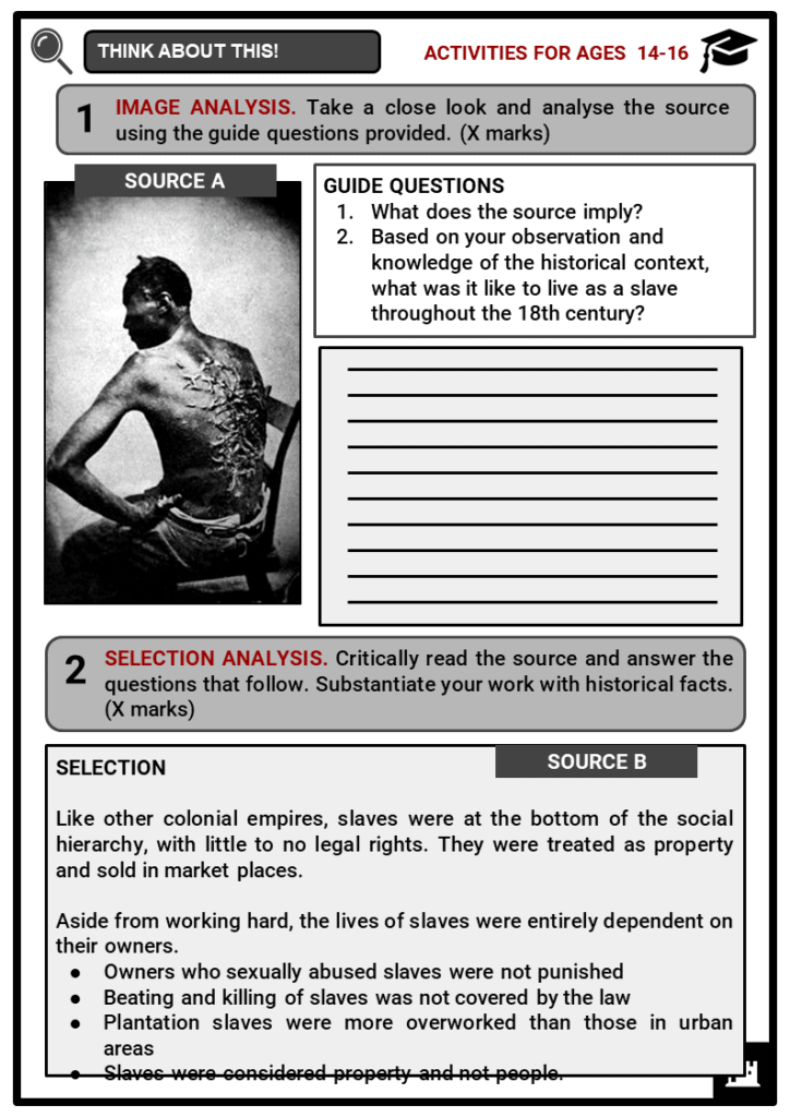 Whipping of Slaves Student Activities & Answer Guide 3
