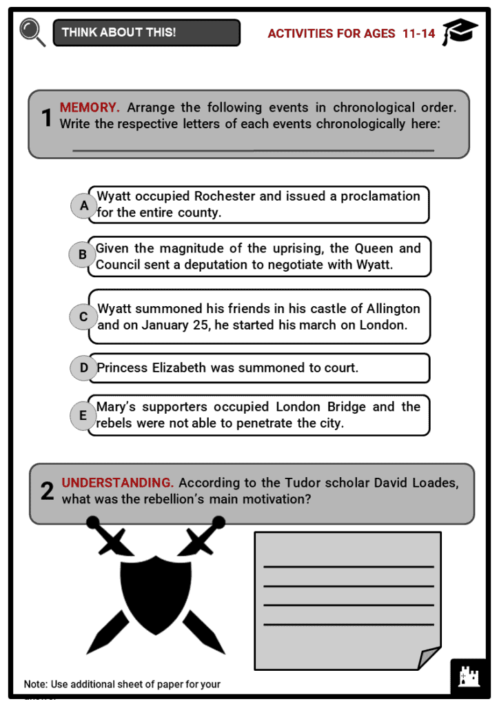 Wyatts Rebellion Student Activities & Answer Guide 1