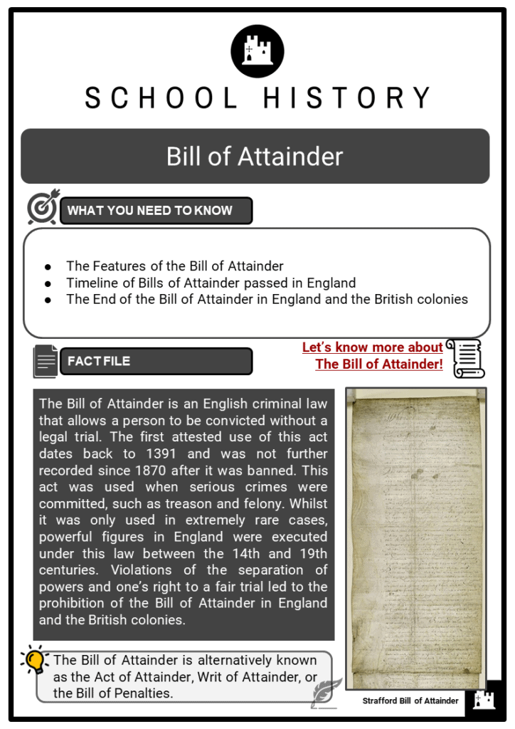 Bill of Attainder Resource Collection 1