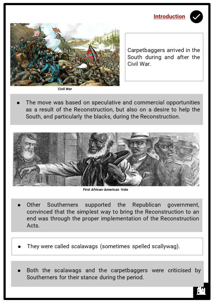 Carpetbaggers & Scalawags in the Reconstruction Resource Collection 2