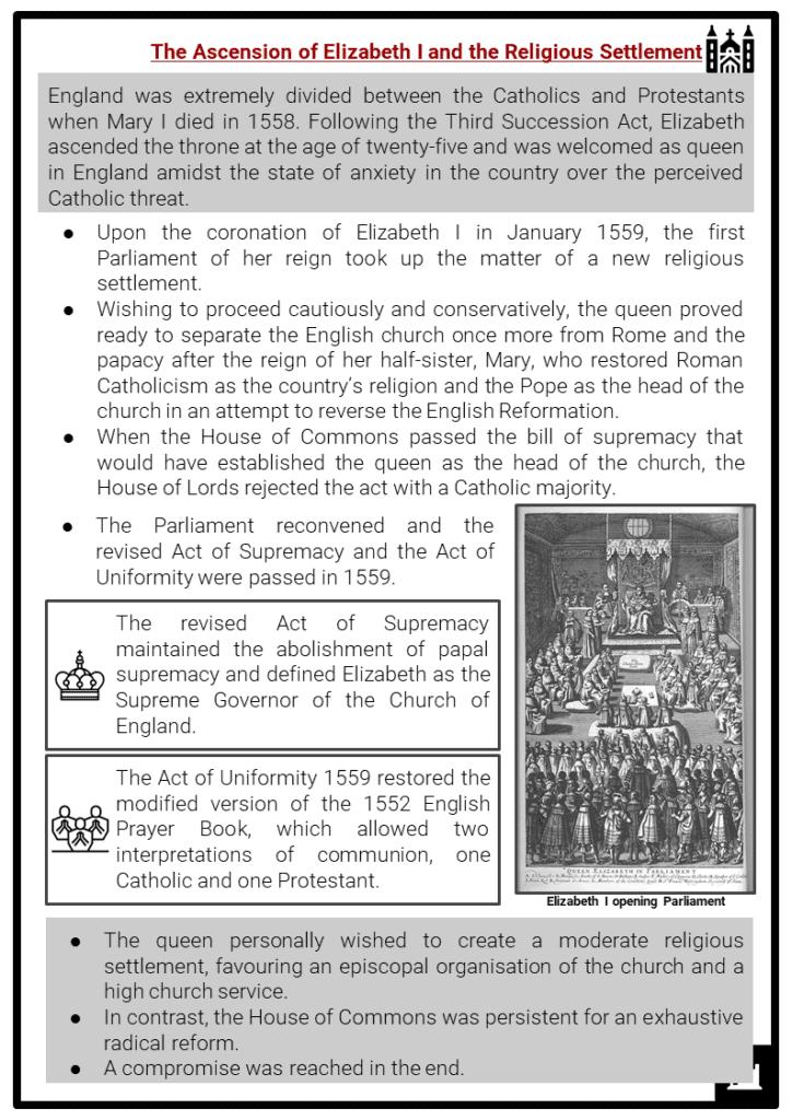 Elizabeth I and Catholic Church Resource Collection 2