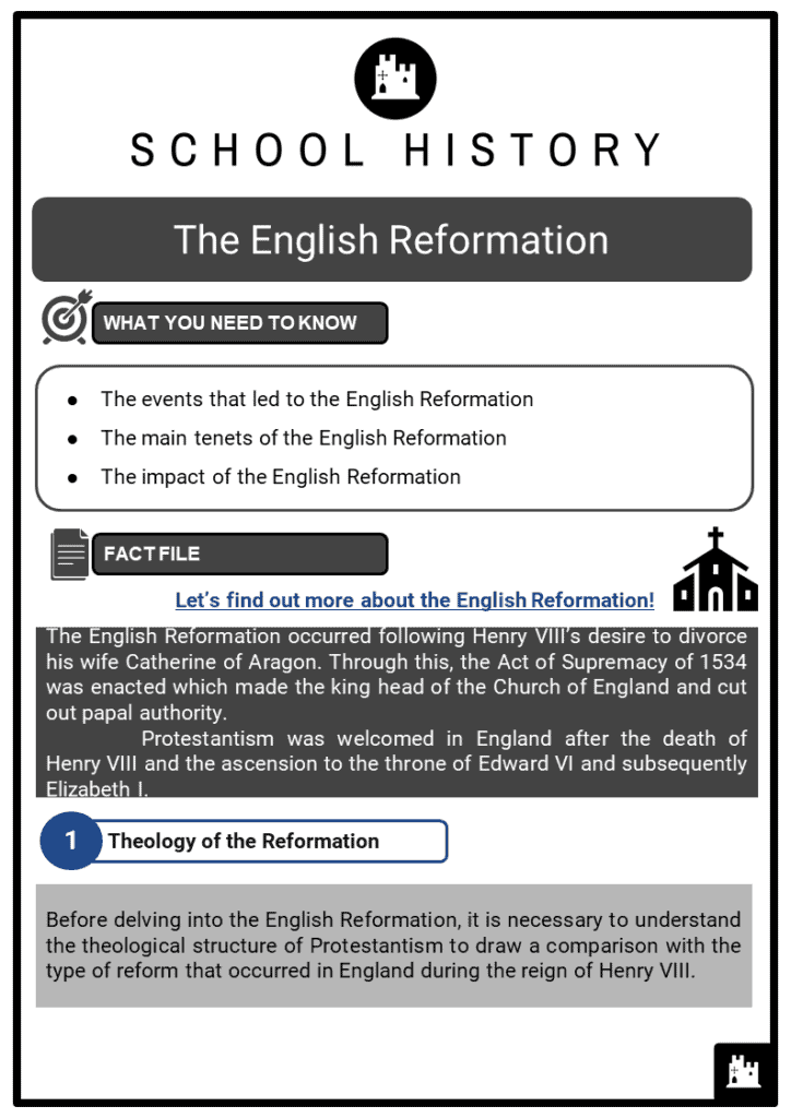 English Reformation Resource Collection 1