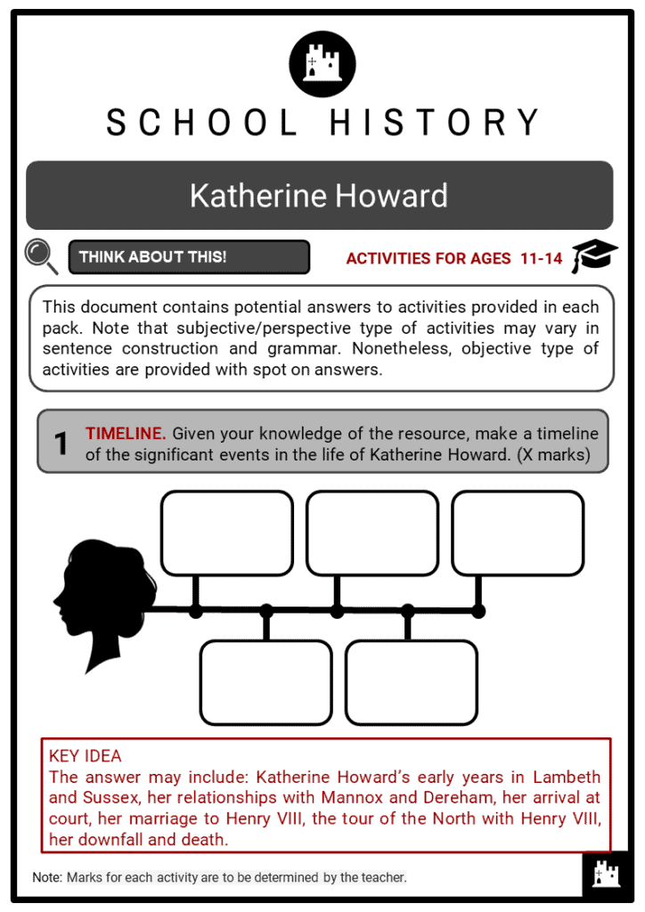 Katherine Howard Student Activities & Answer Guide 2
