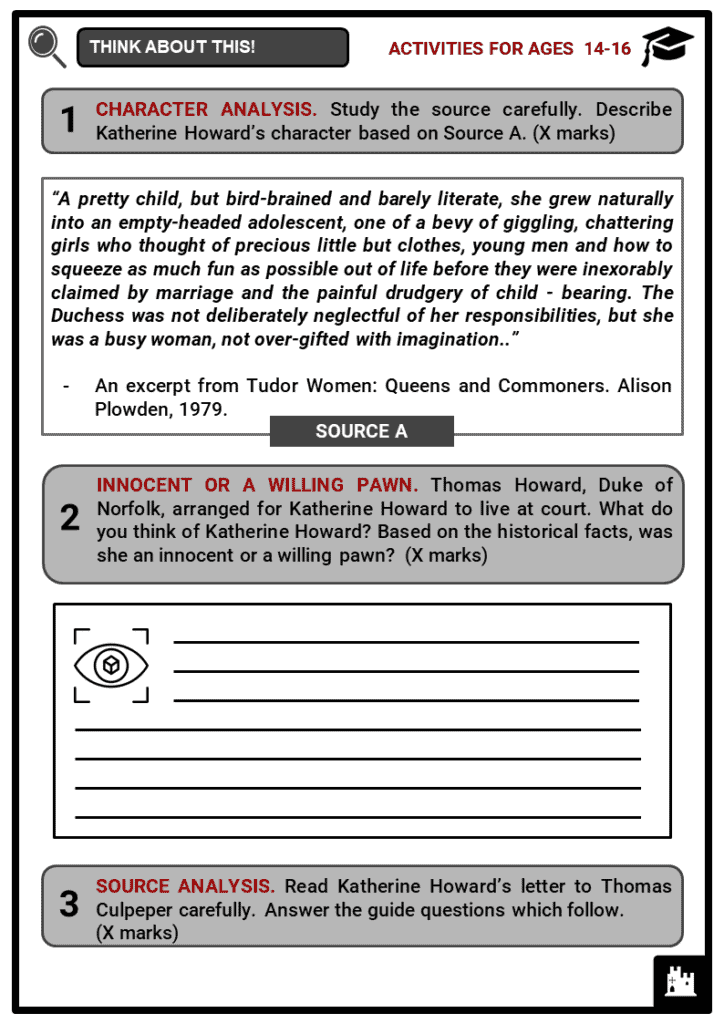 Katherine Howard Student Activities & Answer Guide 3