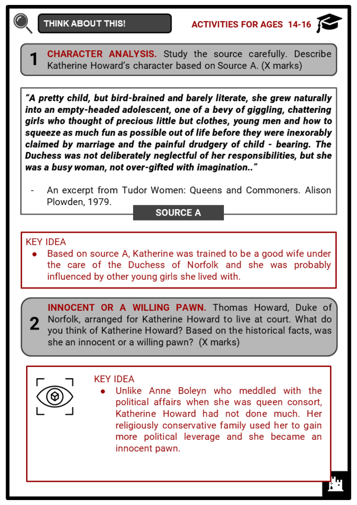 Katherine Howard Student Activities & Answer Guide 4