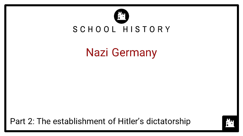 Nazi Germany Course_Part 2_The establishment of Hitler_s dictatorship