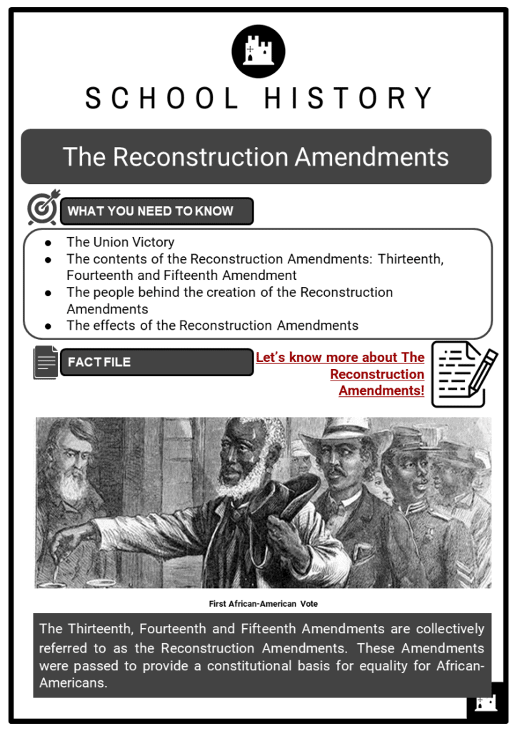 Reconstruction Amendments Resource Collection 1