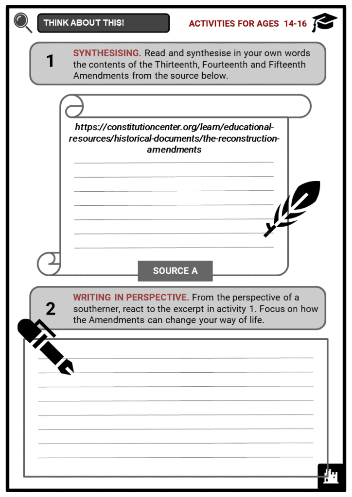 Reconstruction Amendments Student Activities & Answer Guide 3
