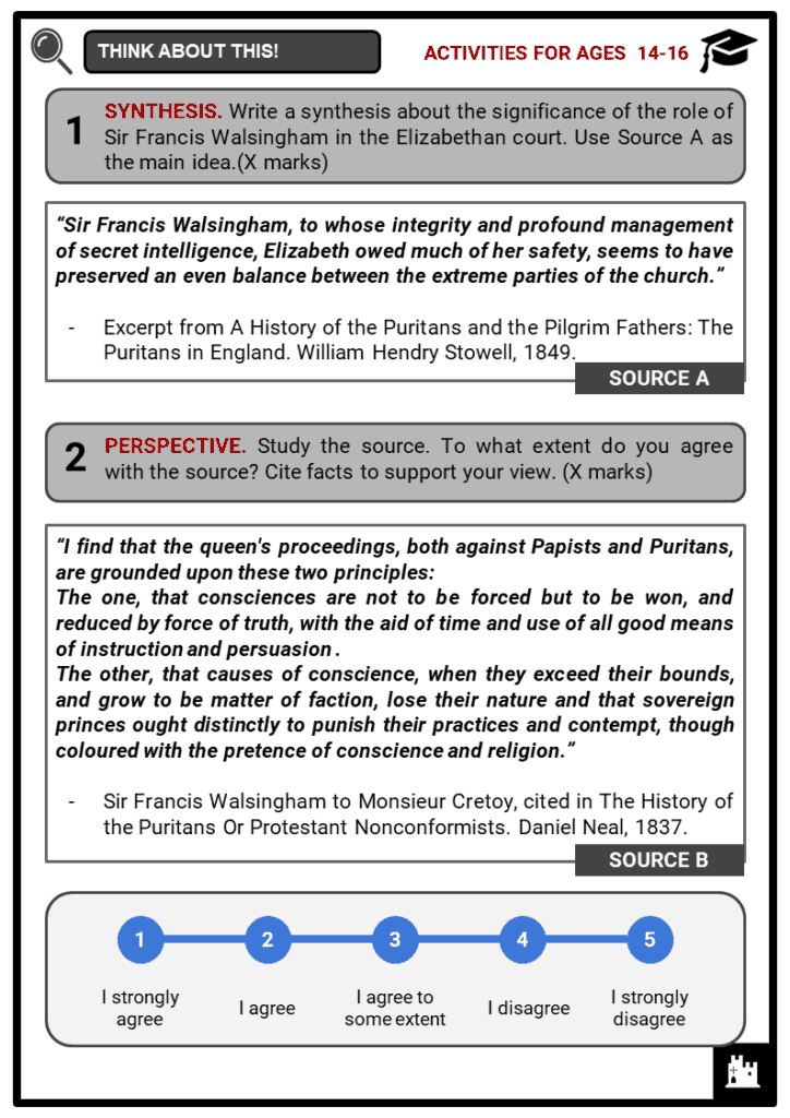 Sir Francis Walsingham Student Activities & Answer Guide 3