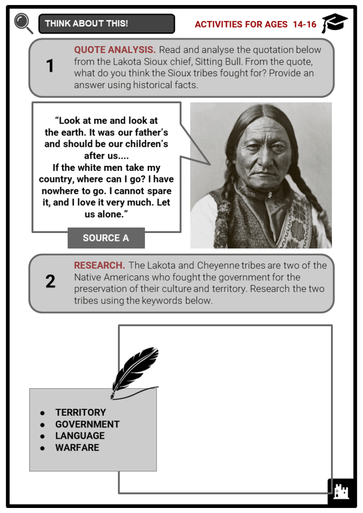 The Great Sioux War Student Activities & Answer Guide 3