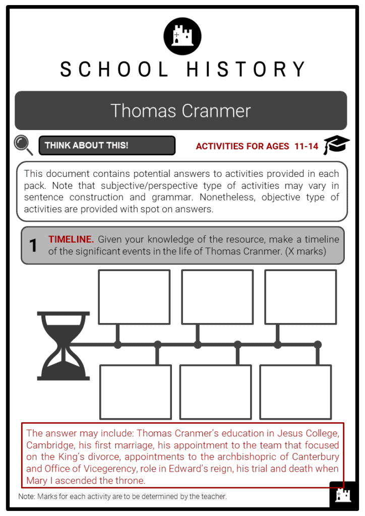 Thomas Cranmer Student Activities & Answer Guide 2