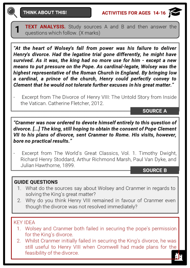 Thomas Cranmer Student Activities & Answer Guide 4