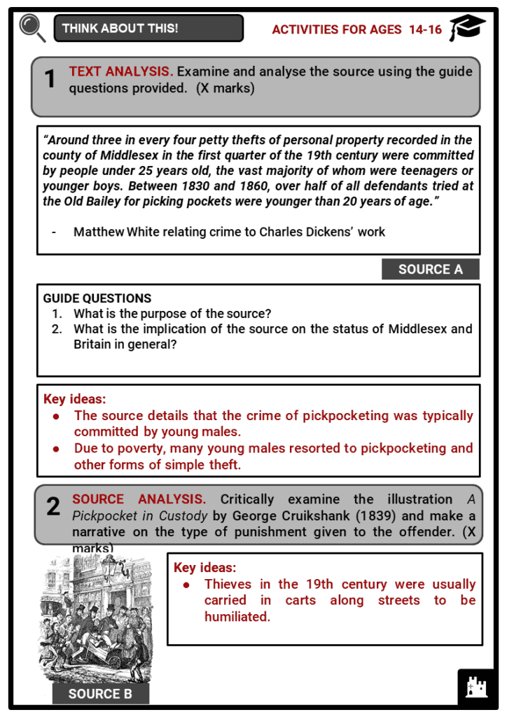 Types of Crime in the 19th century Student Activities & Answer Guide 4