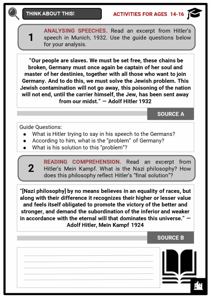Adolf Hitler Student Activities & Answer Guide 3