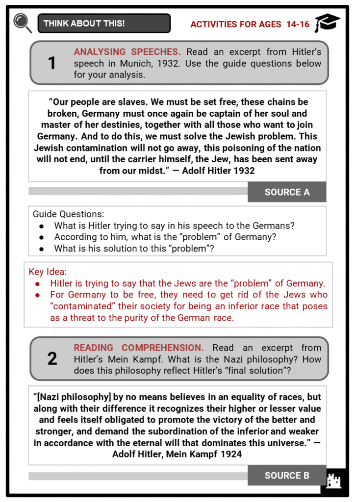 Adolf Hitler Student Activities & Answer Guide 4