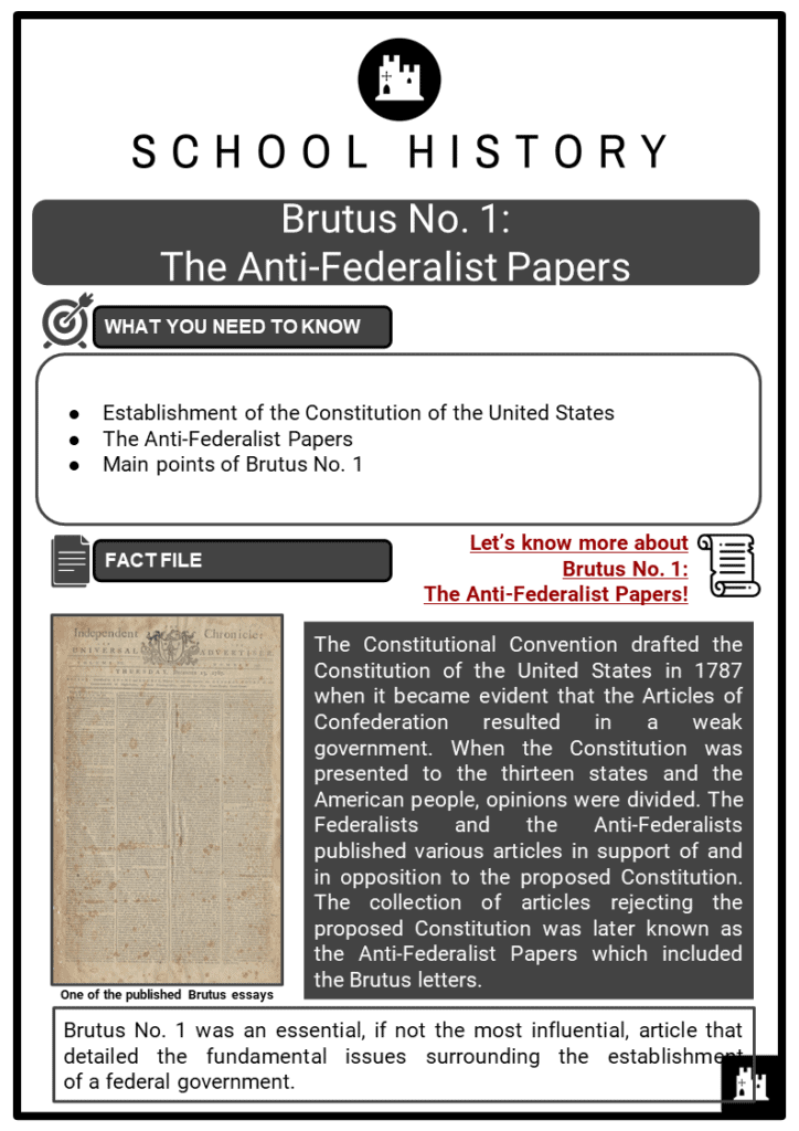 Brutus No. 1_ The Anti-Federalist Papers Resource Collection 1